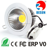 top quality 120mm cut out 20w cob led downlight with 3 / 5 years warranty