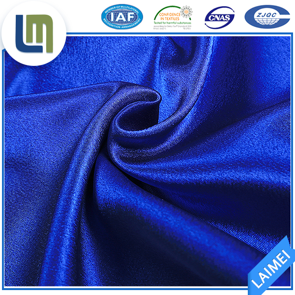 High quality soft smooth pure polyester fine silk color butyl fabric for bedding set