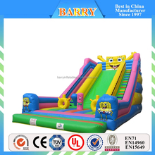 Cute Inflatable Spongebob Slide Inflatable Dry Slide Inflatable Slide