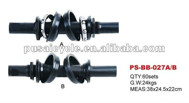 High quality black steel bicycle bb axle set for sale