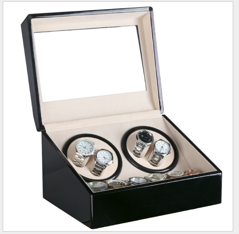 Black Glossy and Mahogany <strong>Grain</strong> 2 Winder 4 Automatic 6 Jeweyrly Slots Automatic China Electronic Watch Winder