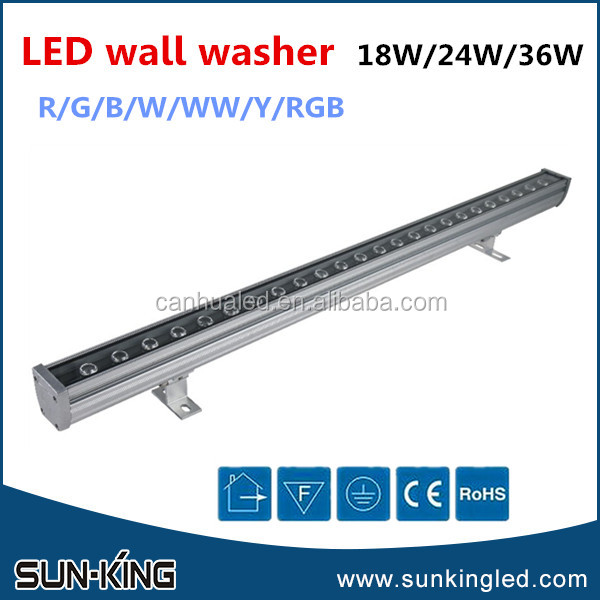 Landscape church bar ip65 linear wallwasher light DC24V DMX RGBW 36w led wall washer