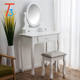 white furniture makeup dresser chair mirror with drawer
