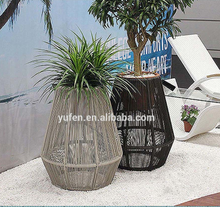 Outdoor rattan vertical garden planter <strong>furniture</strong>
