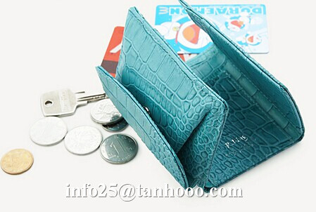 Sexy small clip/sexy crocodile cute leather purse/leather coin bag