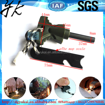 Factory Custom Outdoor Survival Flint Rock Lighter Flint rob