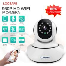 Loosafe F2 HD 960P low cost pan tilt p2p wifi ip camera with free uid wide angle lens