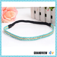 Fashion beautiful design hair accessories crystal stretch headbands