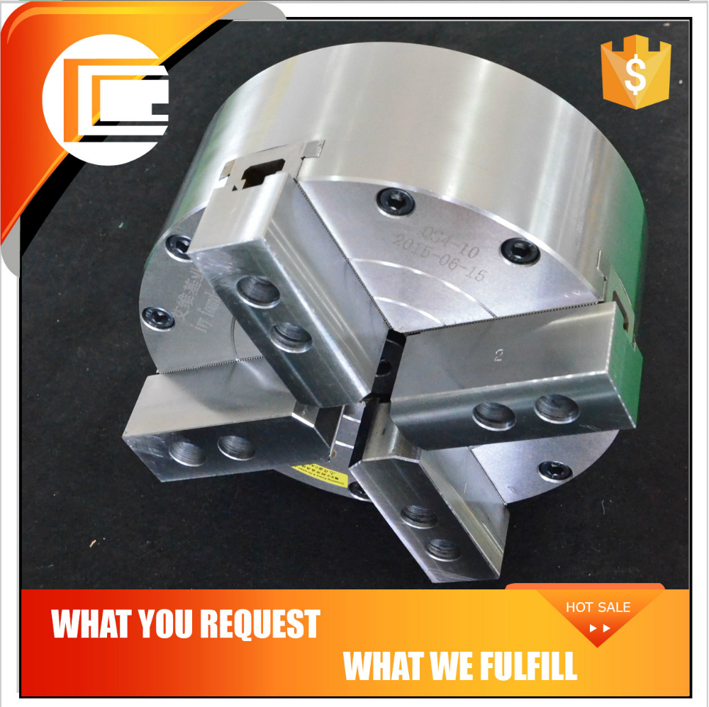 4 jaw solid built-in cylinder cnc pneumatic chuck for Fuerda