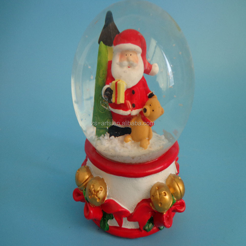 High quality LED Christmas snow globe for christmas decorations