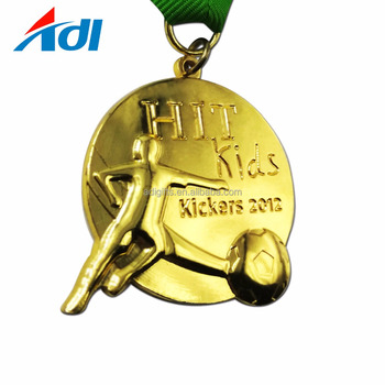 Promotion Factory price Custom Made 3D Logo Gold Football Sports Medal