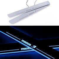 Car LED Welcome Pedal Decoration Door Sill Rubbing Strip For Mazda 3 Axela 2013 2014 2015