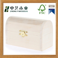 Wholesales handmade unfinished small wood treasure chest boxes