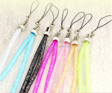 Different color crystal fishnet Mobile Phone Strap