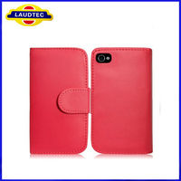 Laudtec Hot Selling New Product Wallet Leather Mobile Cell Phone Case for iPhone 5