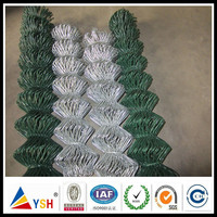 Alibaba China Manufacturer Galvanized Chain Link Wire Mesh Fence PVC Coated Chian Link Fence