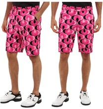 China Supplier Cotton Zip Fly Button Closure Sublimated Print Shorts
