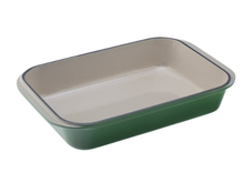 Rectangular Enameled Cast Iron Baking Chicken Roast Paella Pan