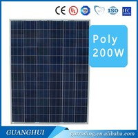 25W, 50W, 100, 150W, 200W, high quality best ptice Poly-Crystalline Solar Panel