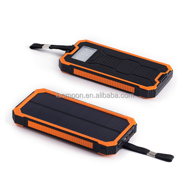 Wholesale 10000mah full capacity solar cellphone charger for mobile cell phone with lantern