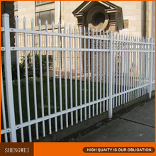 Heavy duty white picket steel yard fence panels
