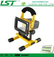 Portable Battery Powered LED Work Light 12V 24V IP65 Outdoor 20W 10W Rechargeable LED Flood Light