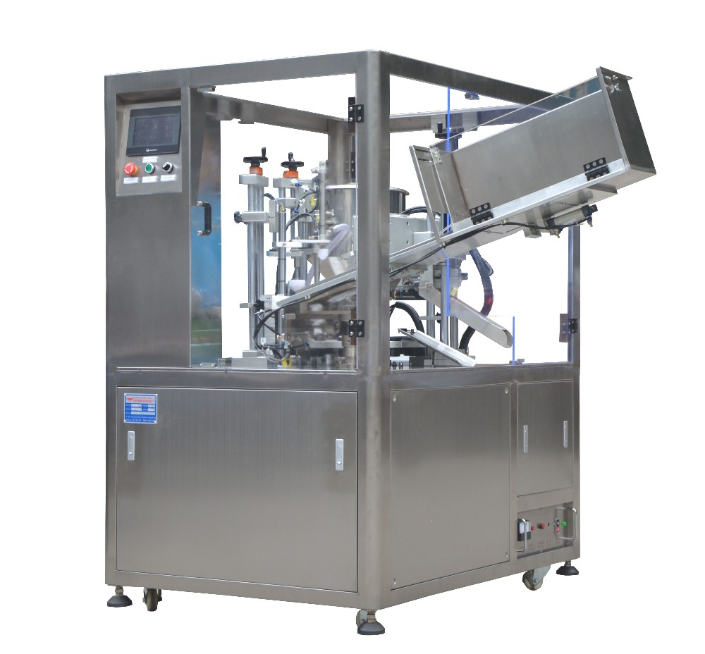 plastic tube filling and sealing machine with auto tube feeding function