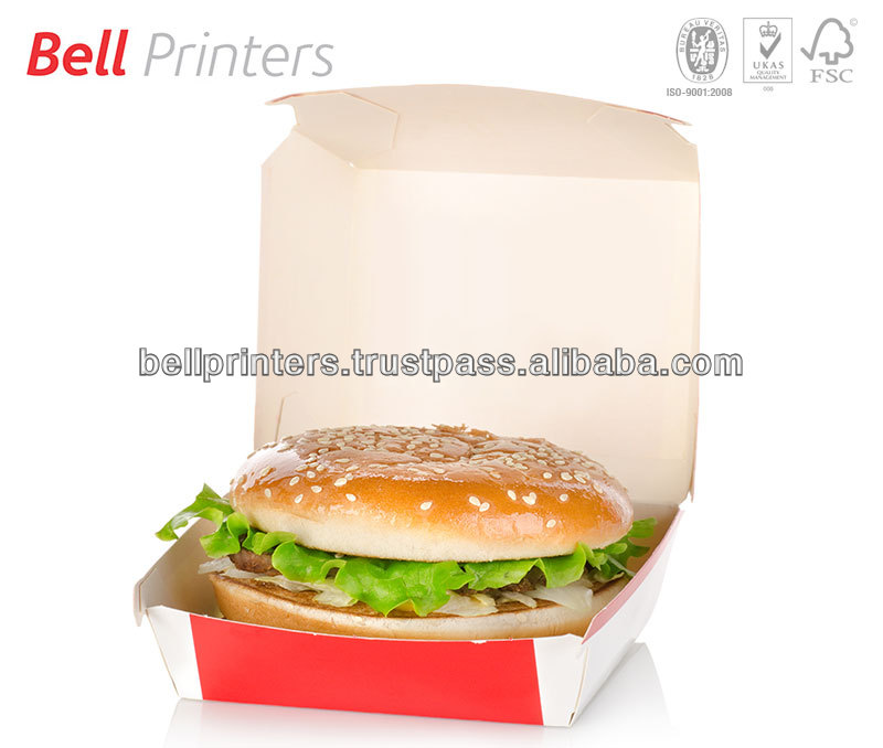 Burger take away box printing bulk quantity from India