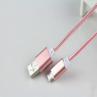 Wholesale Cheap Nylon fabric braided slim micro usb cable