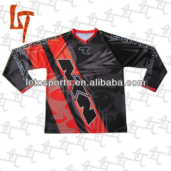 long sleeve custom sublimation motor/racing gear