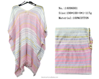 100 cotton long stripes pashmina shawl fashion lady spring cloaks wraps