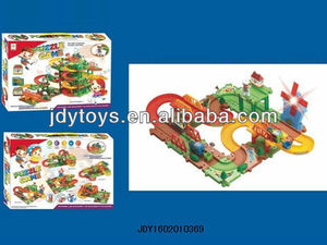 2013 NEWEST FUNNY TRAIN EDEN BUILDING BLOCK WITH LIGHT AND MUSIC