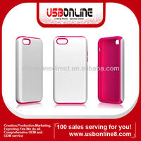 seal combination sets PC + silicone white and red case for iphone5c