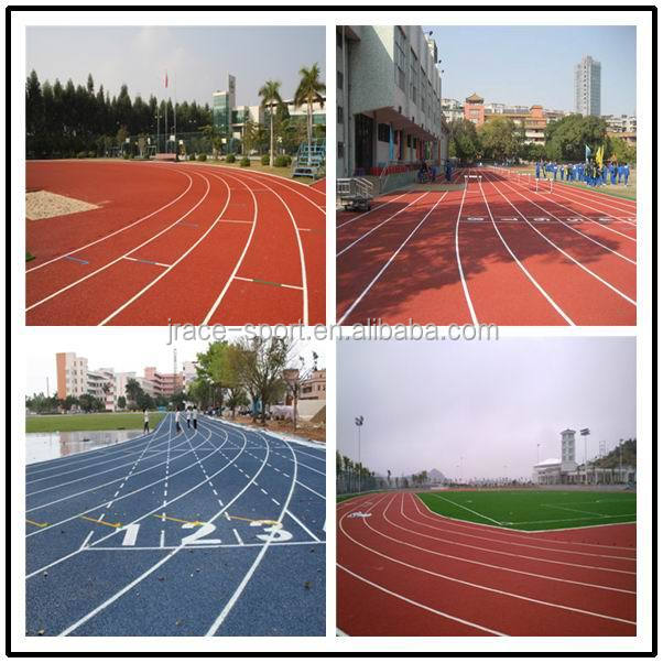 13 mm aging resistance lakeside jogging epdm track synthetic running track from China