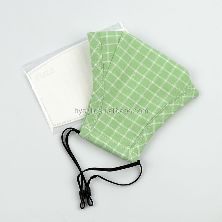 Washable Fabric Mask of Different Designs and Patterns Combined with N95 Filter Prevent Dust and PM2.5 Particles FDA Certificate