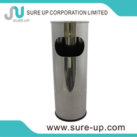 high grate waste bin ring standing cylindrical trash can(DSUH)