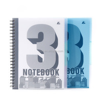 A4 PP Cover Writing Notebook Wire