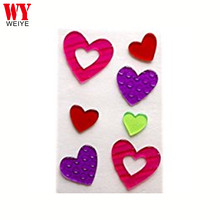 7 Difference Holiday Valentine's Day Hearts Gel Window Clings