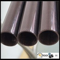 Roll wrapped large diameter carbon fiber tube 100mm