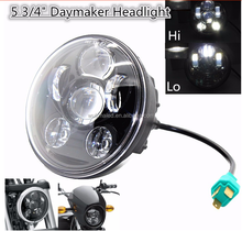 "5.75"" 5-3/4"" Motorcycle Projector 45W LED Lamp Headlight For Harley Sportster, Iron 883, Dyna, Street Bob FXDB"