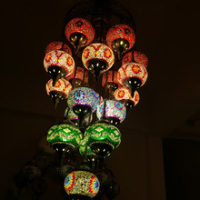 Freeshipping 2015 NEW Design big size 19 lights (CC19M02) Handcrafted LED Mosaic Chandelier