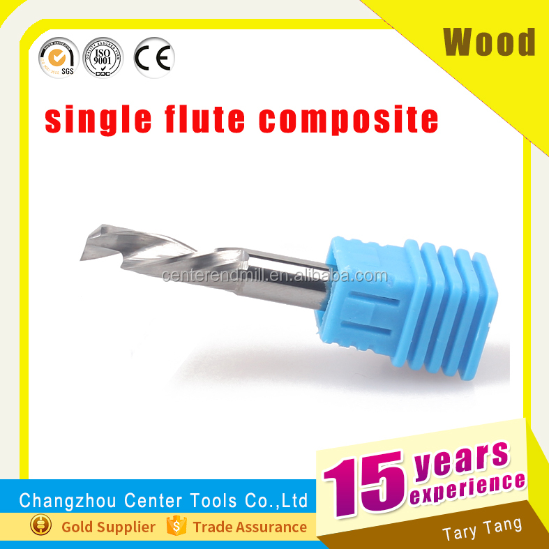 up & down cut one flute spiral wood cutting machine or end mills cutting tools