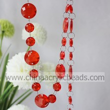 octagon Wedding Tree acrylic beaded garland for Chandelier Crystal Plastic strands