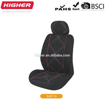 Folding car seat cover polyester/leather car 5 seat red and black