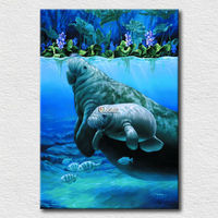 Modern fashion gift for kids canvas print pictures of sea lion