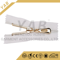 plating gold/gun metal zipper for leather jacket and bags