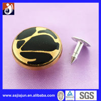 Zinc Alloy Leopard Print Button For Jeans