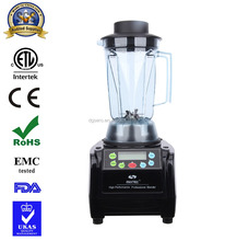 Super 1500w Peak 3HP powerful US Motor 38000 RPM commercial heavy duty multi-purpose bar ice blender