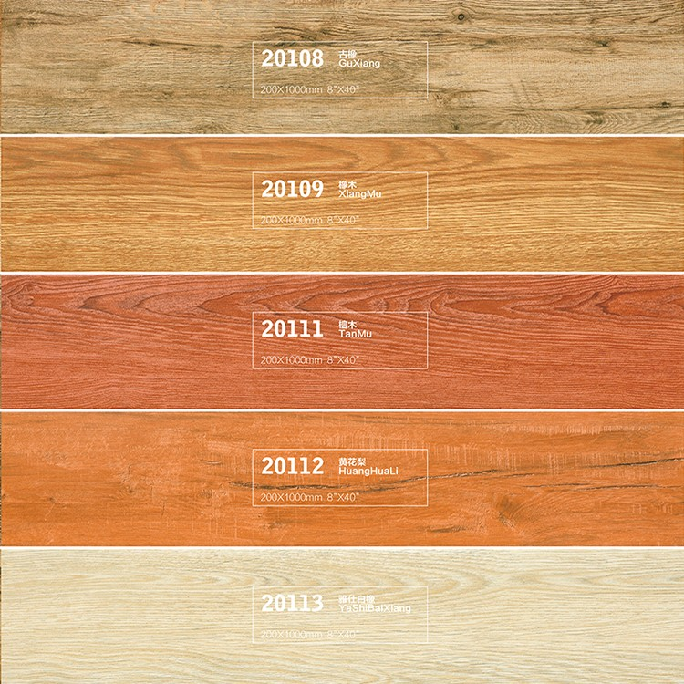 Low Absorption Rate Wood Tile Flooring Matt Floor Wood Tiles for Living Room
