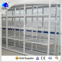 professional powder coated steel warehouse storage light weight longspan wire shelving